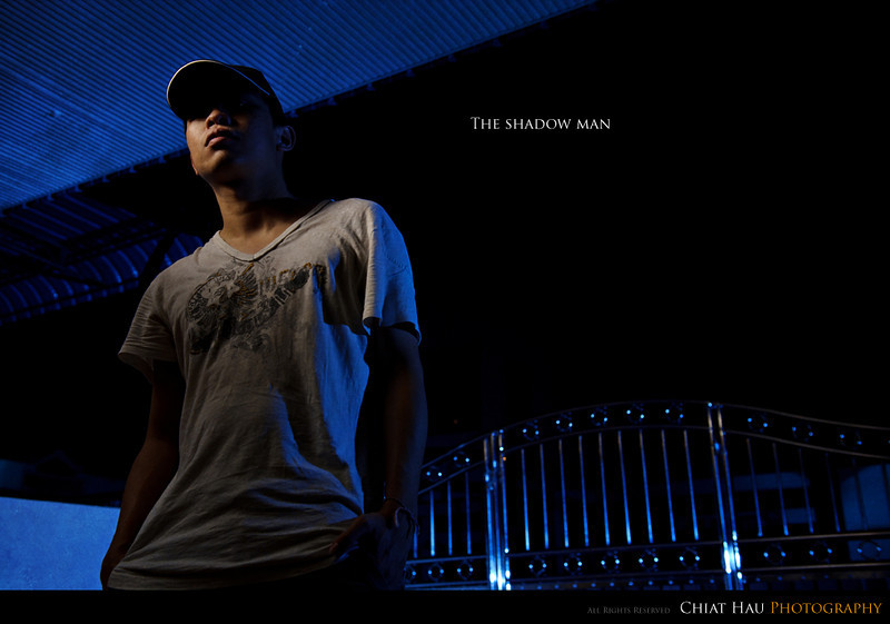 Portraiture  Photography by Chiat Hau Photography (Shadow Man)