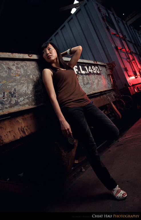 Portraiture  Photography by Chiat Hau Photography (Meei Wen at the Butterworth Train Station)