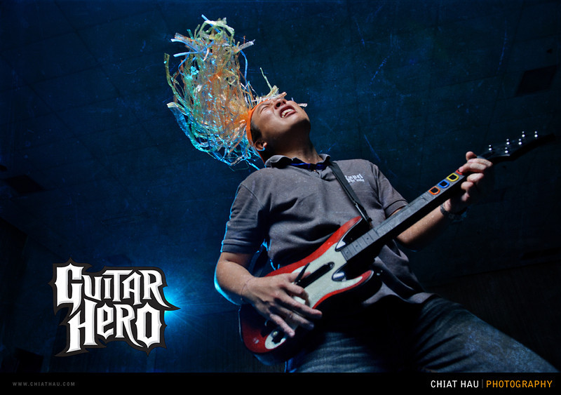 Portrait Photography by Chiat Hau Photography (Guitar Hero - Unleased your Inner Rock Legend)