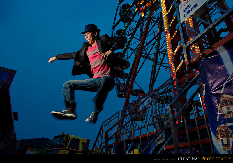Location Lighting Portraiture by Chiat Hau Photography (Yew Tat at Happy Fun Park)