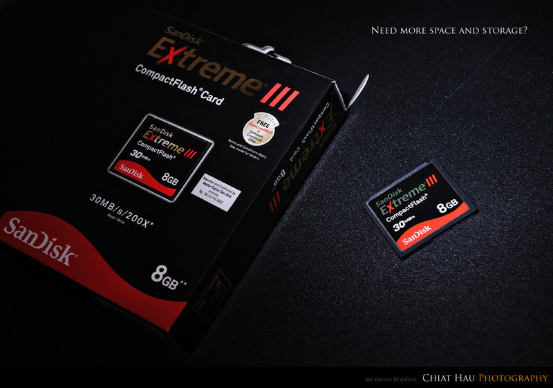 Product Photography by Chiat Hau Photography (SanDisk 8GB Extreme III)